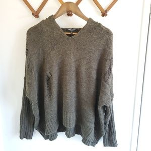 Romeo+Juliet Couture Oversized Distressed Sweater
